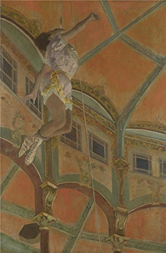 Oil Painting 'Hilaire Germain Edgar Degas Miss La La At The Cirque Fernando ' Printing On Perfect Effect Canvas , 10 X 15 Inch / 25 X 39 Cm ,the Best Foyer Gallery Art And Home Decor And Gifts Is This Cheap But High Quality Art Decorative Art Decorative Canvas Prints