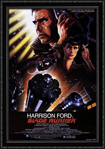 Blade Runner 28x40 Large Black Ornate Wood Framed Canvas Movie Poster Art