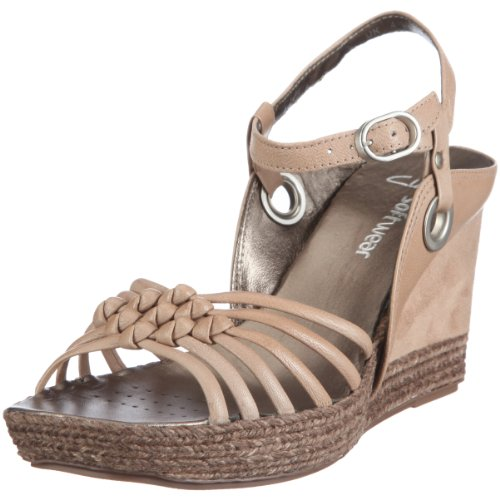 Clarks Scenic Way2 20346206 - Sandalias de vestir de cuero para mujer Beige (Beige (Mushroom Leather))