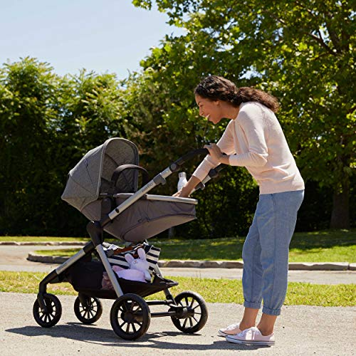 51PKU2zAceL - Pivot Xpand, Modular Baby Stroller, Converts To Double Stroller (Additional Toddler Seat Not Included), Percheron Gray