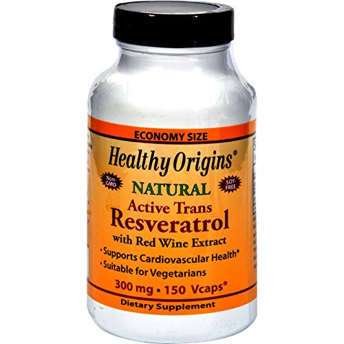Healthy Origins Natural Resveratrol - 300 mg - 150 Vegetarian Capsules (Pack of 2) by Healthy Origins