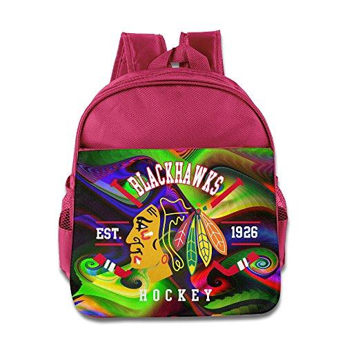[Chicago Blackhawks Cross Check Hockey Stick Children Backpack Pink Bag] (Hockey Stanley Cup Costume)