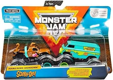 Monster Jam Official Scooby Doo Vs. Mysterty Machine Die-Cast Monster Trucks 1: 64 스케일 2팩 / Monster Jam Official Scooby Doo Vs. Mysterty Machine Die-Cast Monster Trucks 1: 64 스케일 2팩