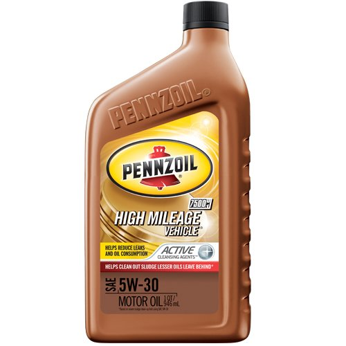 Pennzoil High Mileage Vehicle 5W30 Motor Oil - 1 Quart Bottle, Pack of 6 (Best Oil Additive For High Mileage Vehicles)