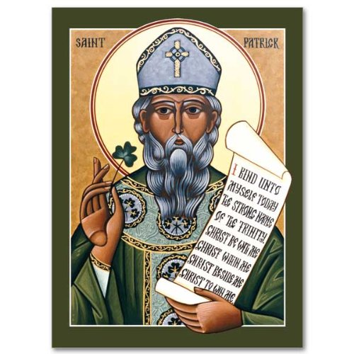 Saint Patrick's Day Holy Greeting Card Icon Design with Envelope