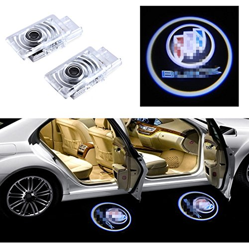 Buick Regal Light - Moderncar 2ps Car door led Logo lamp Projector Ghost Shadow laser Welcome Lights for Buick Regal--Easy to install. No drilling, High Brightness LED lights. New green light source. (For Buick)