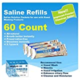 Tonelife 60 Count Saline Nasal Care Refills,Nasal Rinse Mix,Sinus Rinse Premixed Refill Packets,Powdered Saline Convenient Packets,Salt Premixed Packets,Nose Wash Salt,Nasal Cleaning Solution