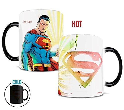 (Morphing Mugs DC Comics Justice League (Superman) Ceramic Mug, Black)