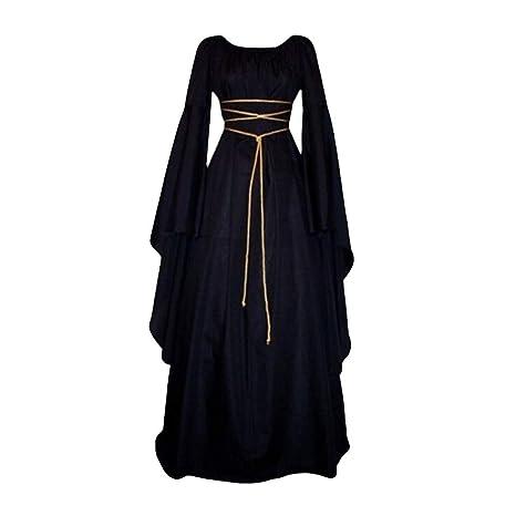 Fossenfeliz Disfraces Medievales Mujer de Reina Gótico, Vestidos ...