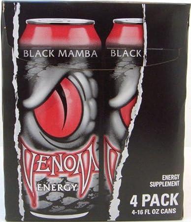 amazon com venom energy drink black mamba 16 ounce can 24 pack