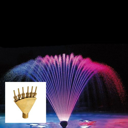 Aquacade Fountains Brass DN25 1'' Finger Jet Fountain Nozzle