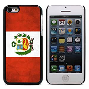 Graphic4You Vintage Peruvian Flag of Peru Design Hard Case Cover for Apple iPhone 5C