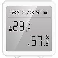 Houshome Tuya Smart WiFi Sensor de umidade de temperatura Higrômetro interno Termômetro APP Controle remoto com tela LCD…