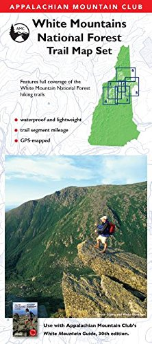 Amc White Mountain Guide Waterproof Map Set  Appalachian Mountain Club White Mountain Trail Maps
