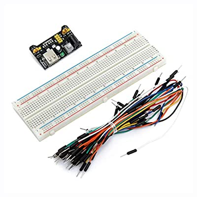 K&A Company Other Electrical Equipment, 65PCS Jumper Cable+ MB102 Power Supply Module 3.3V 5V+Breadboard Board 830 Point