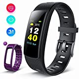 Piixy Activity Tracker IPS Screen, I6HRC Fitness Tracker Fitness Watch Smart Band with Heart Rate Monitor, Smart Bracelet Pedometer Bluetooth Wristband with Replacement Band for Men Women Kids