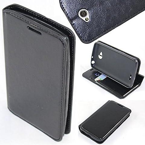 LG Ultimate 2 Case, LG Ultimate 2 Wallet Case - SOGA PU Leather Folio Flip Wallet Case for LG Ultimate 2 / L41C - Luxury Black (Lg L41c Phone Case Wallet)