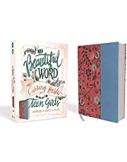 NIV, Beautiful Word Coloring Bible for Teen Girls, Leathersoft, Pink/Blue: Hundreds of Verses to Color