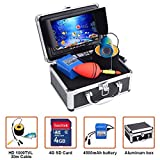 Portable Fish Finder Underwater Fishing Camera System Kit Video Recording Edition DVR 7'' Monitor LCD HD 1000TVL IP68 30m Cable 4500mAh Rechargeable Battery Night Version for Ice,Lake and Boat Fishing