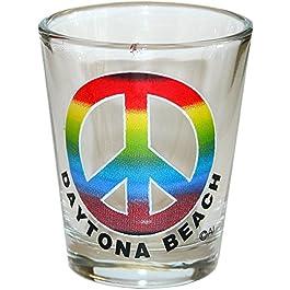 Peace – Daytona Beach Florida Souvenir Gift Shot Glass. PEACE. 1043DB