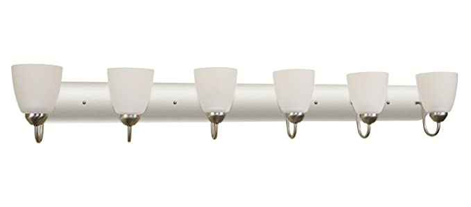 Armada 48u0026quot; 6 Light Modern Vanity/Bathroom Light With Brushed Nickel  Finish And