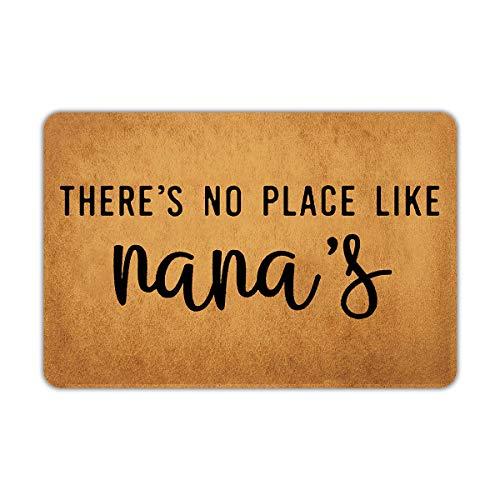 Joelmat There's No Place Like Nana's Entrance Non-Slip Outdoor/Indoor Rubber Door Mats for Front Door/Garden/Kitchen/Bedroom 23.6