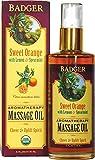 Badger Company, Aromatherapy Massage Oil, Sweet Orange with Lemon & Spearmint, 4 fl oz (118 ml)