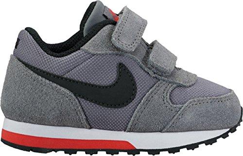 Nike Md Runner 2 (Tdv), Zapatillas de Deporte para Niños grau - schwarz - rot