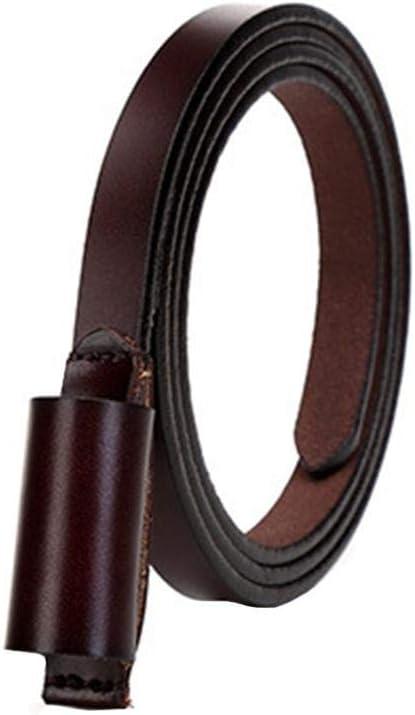 Falda Cinturón fino Cinturón de cuero de dos capas para mujer con ...