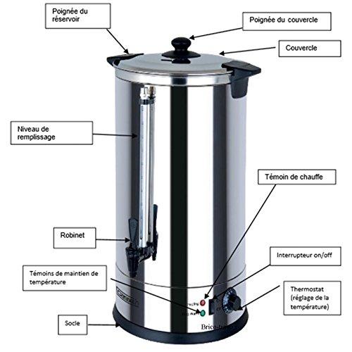/Dispenser di acqua calda 10 L Casselin CDEC10/