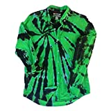 Green Tie Dye Oxford Shirt