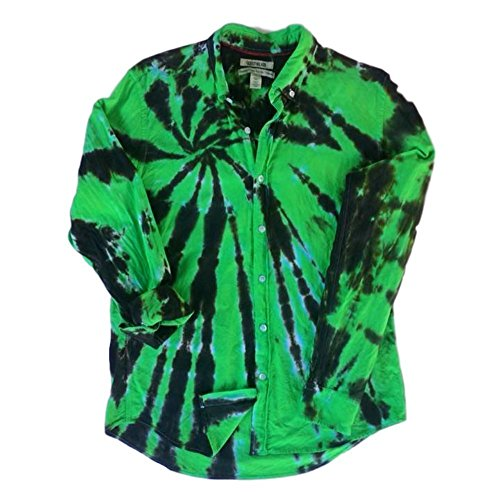 Green Tie Dye Oxford Shirt by Incense and Peppermints