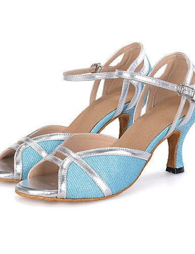 La mode moderne Sandales femmes personnalisables Chaussures de danse en similicuir latine Talon évasé, violet, US9.5-10/EU41/UK7.5-8/CN42