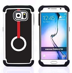 For Samsung Galaxy S6 G9200 - RING MINIMALIST DEEP RED MEANING Dual Layer caso de Shell HUELGA Impacto pata de cabra con im??genes gr??ficas Steam - Funny Shop -