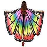 Luckcome Butterfly Wings Shawl, Halloween/Party Prop Soft Fabric Costume Accessory for Women Adult (Multicolored)