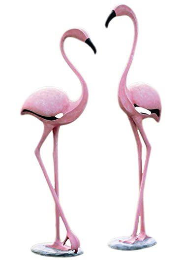 Amazon.com : SPI Home 33349 Pink Flamingo Pair Sculpture : Outdoor ...