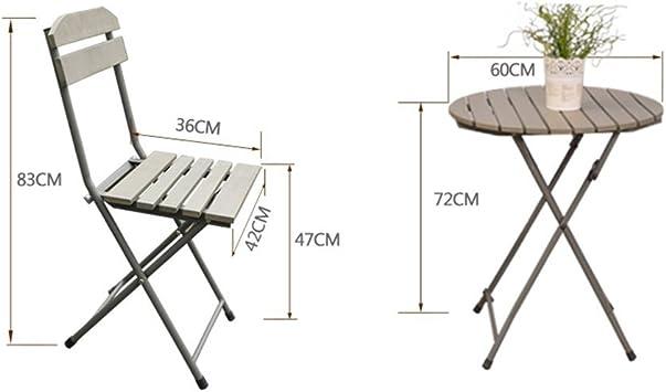 MJY Muebles de balcón Mini combinación de tres piezas Jardín Jardín Terraza Hierro Plegable Ocio simple Silla pequeña al aire libre Mesa de centro pequeña Hogar creativo,Una mesa + cuatro sillas: Amazon.es: