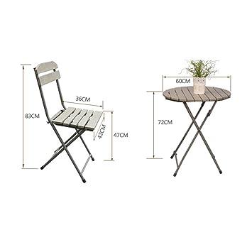 MJY Muebles de balcón Mini combinación de tres piezas Jardín ...