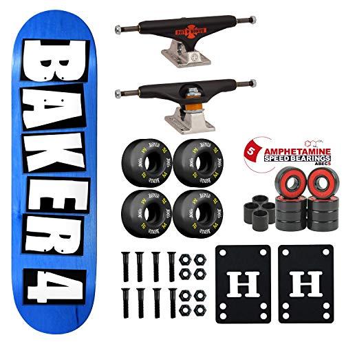 """Baker Skateboard Complete 4 8.75"""" Assorted Colors Independent/Bones"""