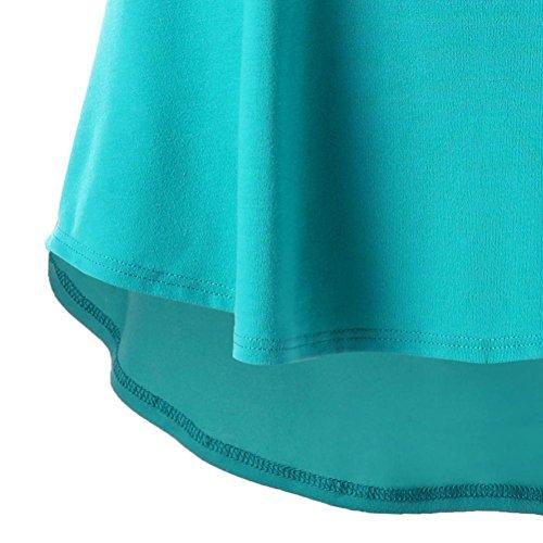 redondo de mujeres Cuello Secci Camiseta mangas Adeshop Correas Moda mangas cruzadas Sin sin las Color Chaleco puro xS01xZwnX