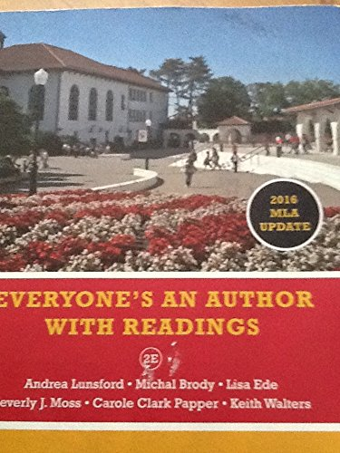 Everyone's an Author with Readings, 2016 MLA Update, 2e, Montclair State University