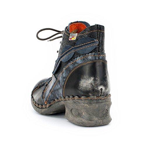 TMA SEELENlook Damen-Schuhe, Echtleder >                     Frühjahr - Boots, Stiefeletten, Größen 36-42/43 Perlschwarz