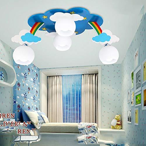 XQY Lámpara de Techo de la Nube del Arco Iris de la Habitación de Los Niños, Iluminación del Dormitorio de Niños Y...