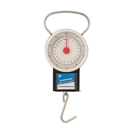 Silverline 251024 - Báscula colgante con flexómetro (22 kg)