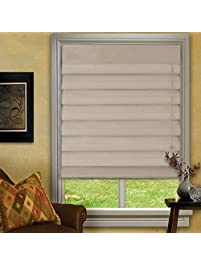 waterfall roman shades taupe 23x72
