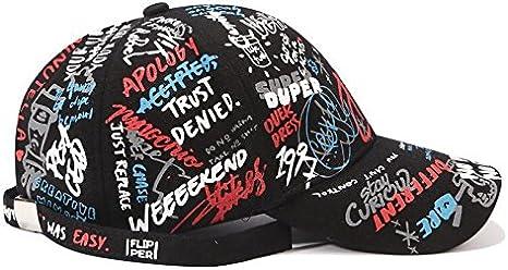 ZHANGBQM Gorra de Beisbol Unisex Gorra de b/éisbol Carta de Graffiti Cinta Plana Sombrero de Hip Hop///Hombres Mujeres Gorras de algod/ón Casuales Visera de pap/á