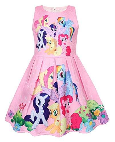 Girls Unicorn Dress Costumes Fancy Birthday Party Dress up (Pony Pink, 3Y) ()