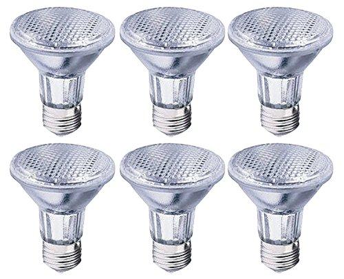 Triangle Bulbs T10676-6 39-Watt PAR20 Halogen Reflector Light Bulbs, 50 Degree Wide Flood, 130V, (50W replacement,) EXTENDED LONG LIFE, 6-Pack - Extended Life Halogen Floodlight