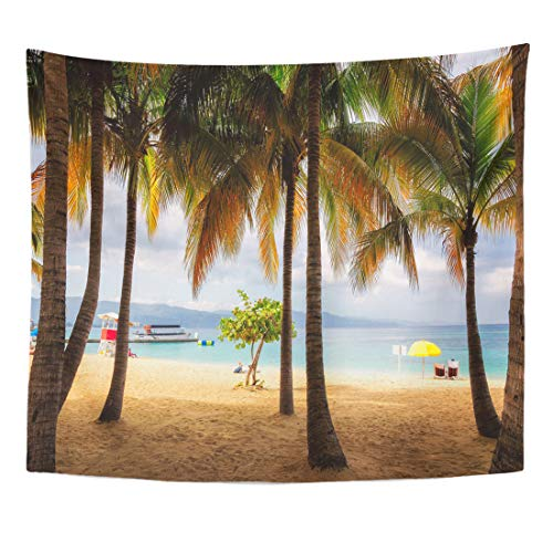 - Semtomn Tapestry Place Palm Trees on Jamaica Beach in Montego Bay Home Decor Wall Hanging for Living Room Bedroom Dorm 50x60 Inches