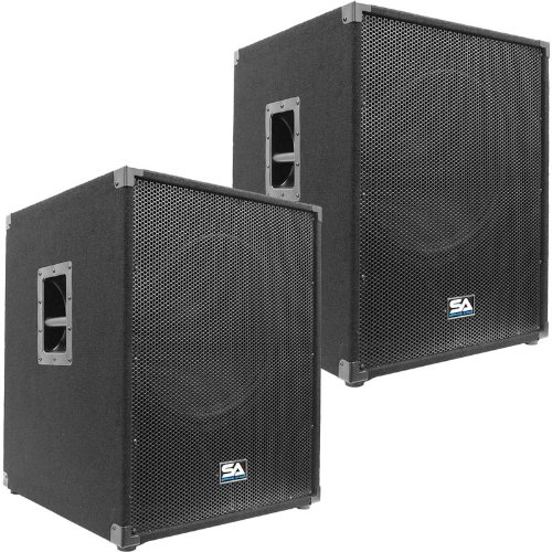 Seismic Audio - Aftershock-18Pair - Pair of Powered PA 18'' Subwoofer Speaker Cabinets by Seismic Audio